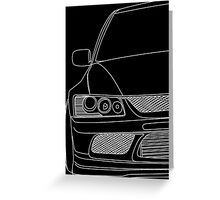 Evo outline - white Greeting Card
