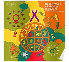 Fibromyalgia Awareness is crucial Poster
