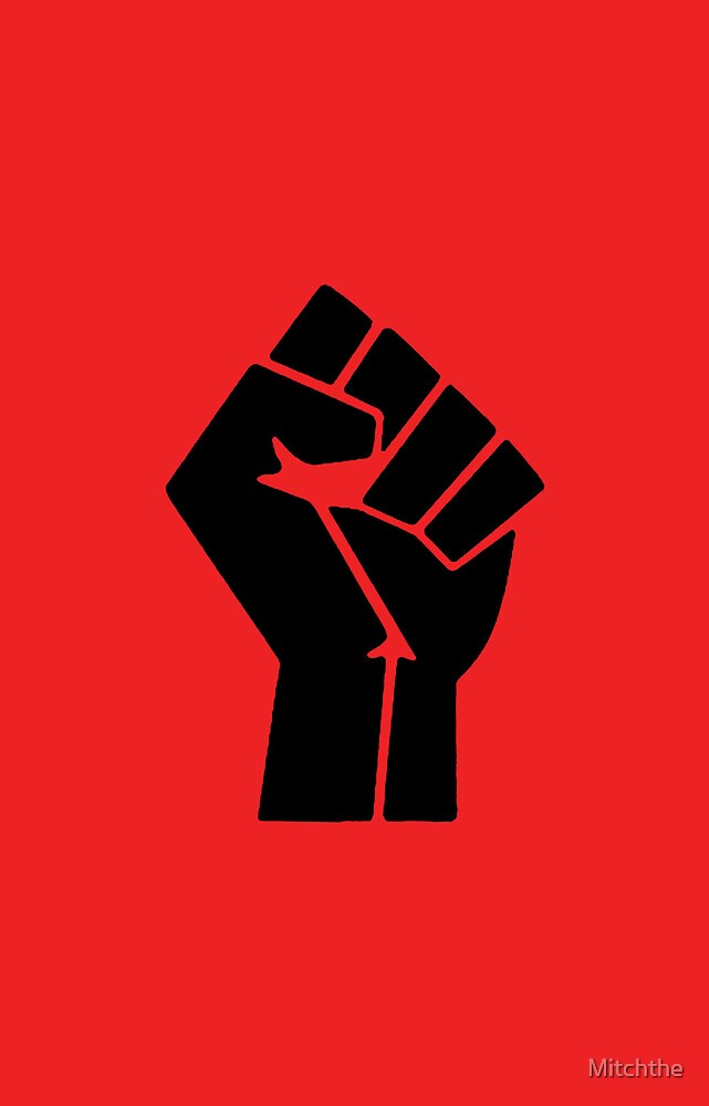 Power to the People Fist Red by Mitchthe