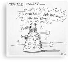 teenage daleks Canvas Print