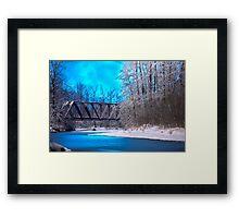 Railroad Bridge over the Wallace River (color) Framed Print