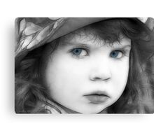 Sweet Little Blue Eyes Canvas Print