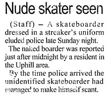 Nude Skater Seen by skonenblades
