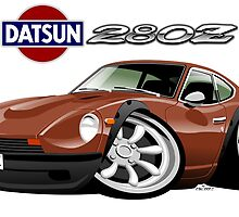 Datsun 280Z caricature personalized for Larry by car2oonz