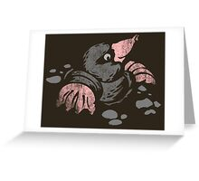 Mole in a hole. Greeting Card