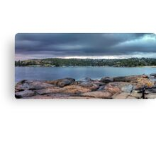 The Rocks of Hunter Bay Canvas Print