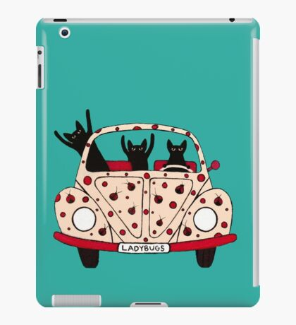 Driving Cats iPad Case/Skin