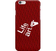 Art v Life - Red iPhone Case/Skin