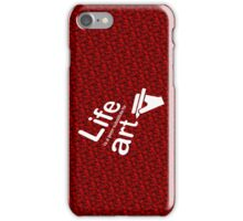 Art v Life - Red iPhone Case/Skin