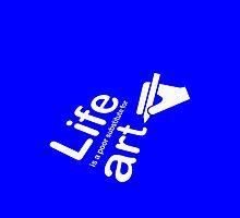 Art v Life - Blue by Ron Marton