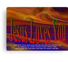 Jesus Valentine Card To You Canvas Print