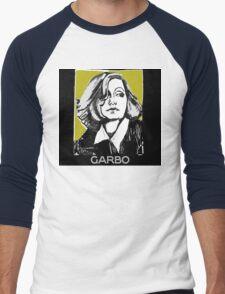 Greta Garbo 1920s Portrait  Men's Baseball ¾ T-Shirt
