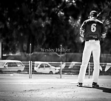 Loneliest guy on the diamond by Wesley Hellyer