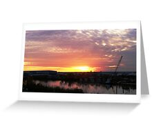 Belle Chasse Sunset Greeting Card