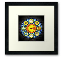 In the House of Wakka Wakka Wakka - Pac-man Stained Glass Framed Print