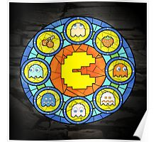 In the House of Wakka Wakka Wakka - Pac-man Stained Glass Poster