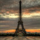 Sunrise over paris by collpics