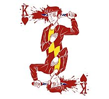 Ian King of Hearts Photographic Print