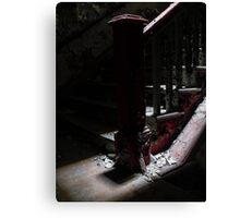 Dark Red Step  Canvas Print
