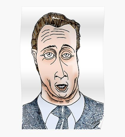 David Cameron Funny Cartoon Caricature Poster