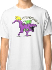 Stupendous! | Funny 90s Pop Culture Barney and Friends Dinosaur Classic T-Shirt