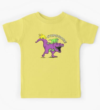 Stupendous! | Funny 90s Pop Culture Barney and Friends Dinosaur Kids Tee