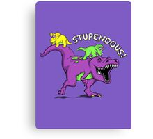 Stupendous! | Funny 90s Pop Culture Barney and Friends Dinosaur Canvas Print