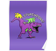 Stupendous! | Funny 90s Pop Culture Barney and Friends Dinosaur Poster