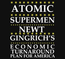 Newt Gingrich - Atomic Supermen Kids Tee