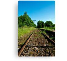Forgotten railway line to ... Canvas Print
