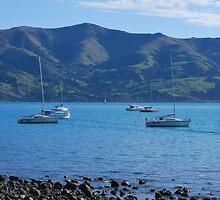 Akaroa Boats by LisaMarksPhotos