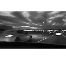 Drive at Night Photographic Print