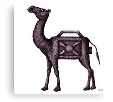 Water Container Camel surreal black and white pen ink drawing  Canvas Print