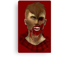 Hipster Zombie Canvas Print