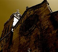 church in sepia by kchamula