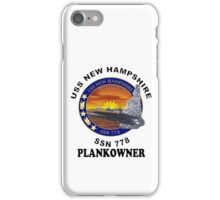 SSN-778 USS New Hampshire Plank Owners Logo iPhone Case/Skin