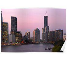 Brisbane City Twilight Poster