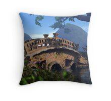 The Bridge to Eden Throw Pillow