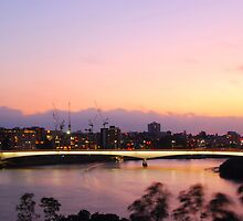 Brisbane Captain Cook Bridge by voir
