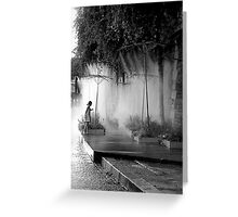 Little Girl at Paris Plages II Greeting Card