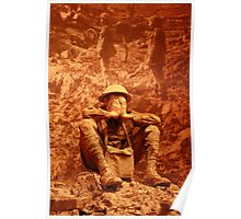 A Sitting Soldier Poster