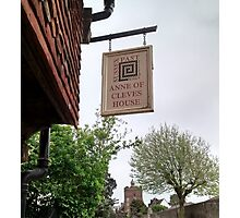 Anne of Cleaves House Photographic Print