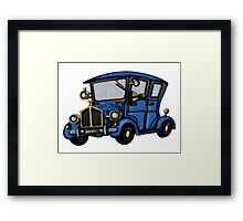 Vintage Car fun drawing Framed Print