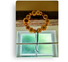 Sunflower Crown - Anne of Cleaves House Canvas Print