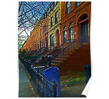 Park Slope townhouses, Brooklyn Poster