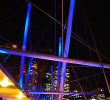 Brisbane Crossing the Kirulpa Bridge at Night by voir