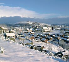 Mossley in the snow by John Kiely