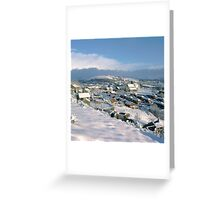 Mossley in the snow Greeting Card
