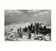 Dubai view from above  Art Print
