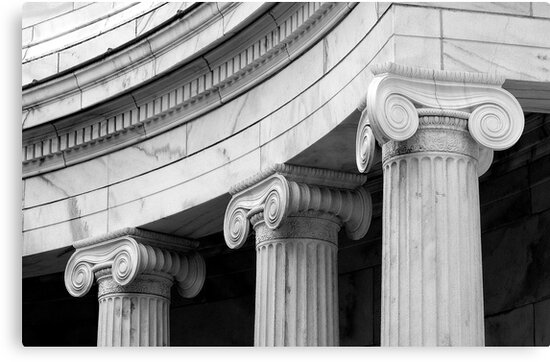 Classical  marble Columns by woodnimages